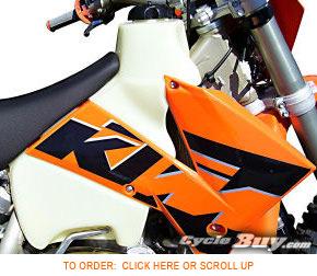 KTM 250 300 380 EXC MXC SX 1999-2002 Clarke Fuel Tank 3.5 Gallon Natural FITS
