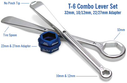COMBO AXLE WRENCH//TIRE TOOL 3// 8 BREAKER BAR 27MM  08-0288